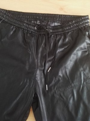 H&M Lederhose Jogger Joggingshose aus Leder schwarz Gr. M Chino