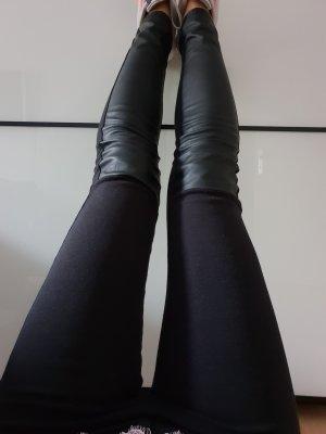 H&M Lederhose Leder Leggings XXS XS 32 34 schwarz skinny high waist Röhre Hose Treggings Jeggings