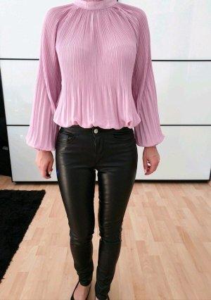 H&M Lederhose Leder Leggings XXS XS 32 34 schwarz skinny Lack Röhre Hose Jeans Treggings Top