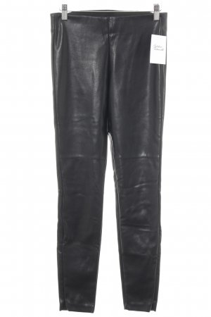 H&M Leather Trousers black casual look