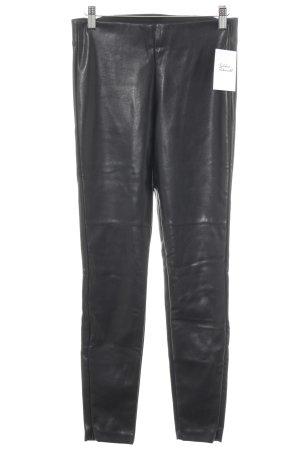 H&M Lederhose schwarz Casual-Look