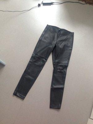 H&M Lederhose schwarz gr 40 neu