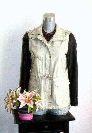 H&M Long Jacket cream-black