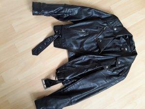 H&M Lederjacke schwarz Bikerlook