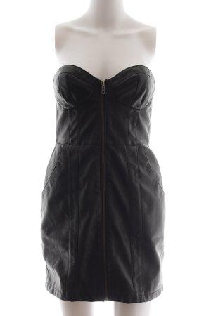 H&M Leren jurk zwart extravagante stijl