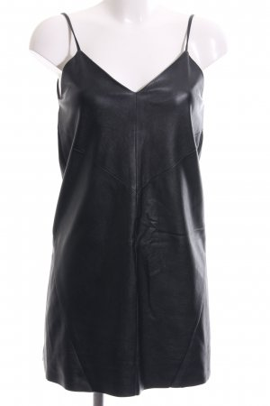 H&M Leren jurk zwart elegant