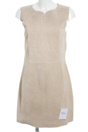 H&M Lederkleid creme-beige minimalistischer Stil