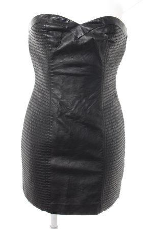 H&M Leren jurk zwart casual uitstraling