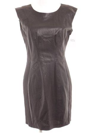 H&M Lederkleid schwarz Elegant