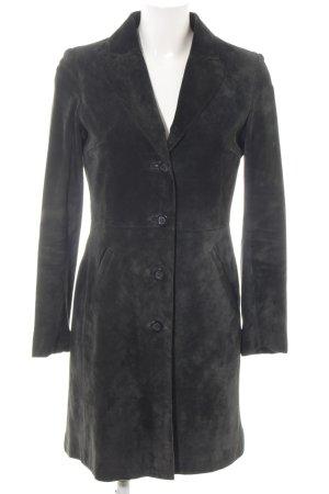 H&M Abrigo de cuero negro elegante