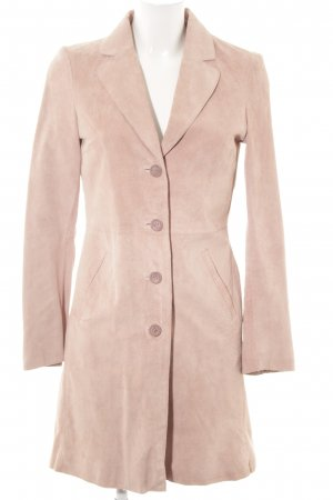 H&M Leather Coat nude simple style