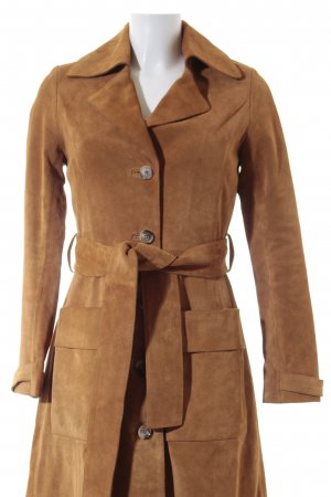 H&M Ledermantel camel Vintage-Look