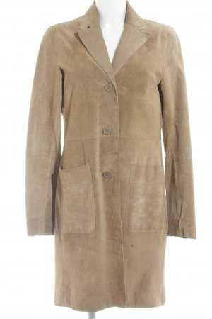 H&M Leather Coat light brown casual look