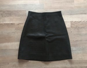 H&M High Waist Skirt black leather