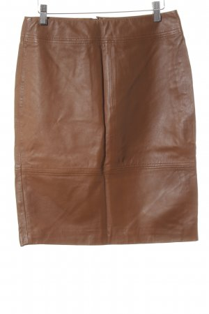 H&M Leather Skirt brown business style