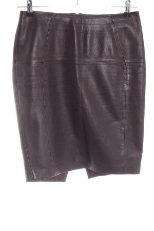 H&M Gonna in pelle marrone-rosso stile semplice