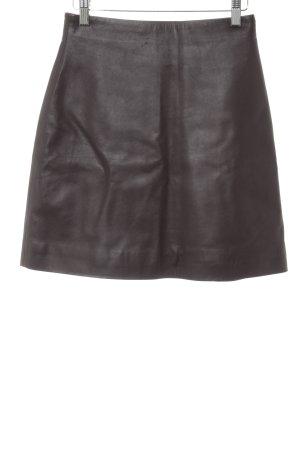 H&M Falda de cuero rojo amarronado look Street-Style