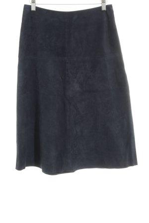 H&M Lederrock dunkelblau Casual-Look