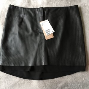 H&M Leather Skirt black leather