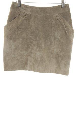 H&M Lederrock khaki Urban-Look
