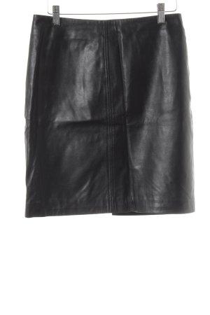 H&M Leather Skirt black wet-look