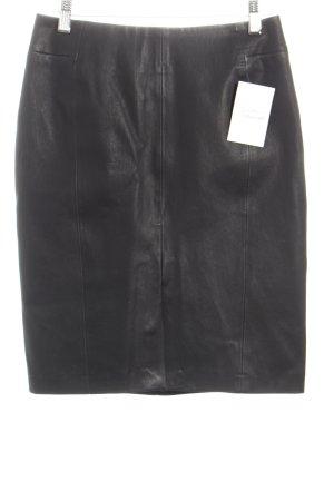 H&M Lederrock schwarz klassischer Stil