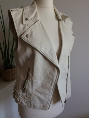 H&M Leather Vest natural white