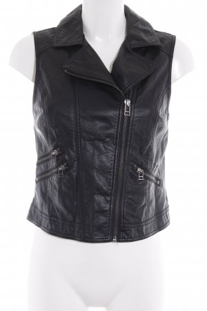 H&M Leather Vest black casual look