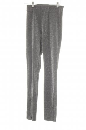 H&M Leggings grau-silberfarben Glitzer-Optik