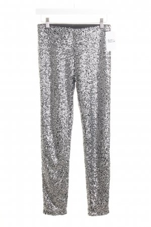 H&M Leggings black-silver-colored party style