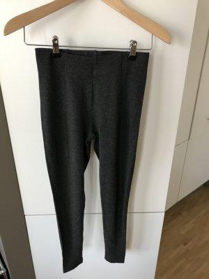 H&M Leggings gris oscuro-gris antracita tejido mezclado