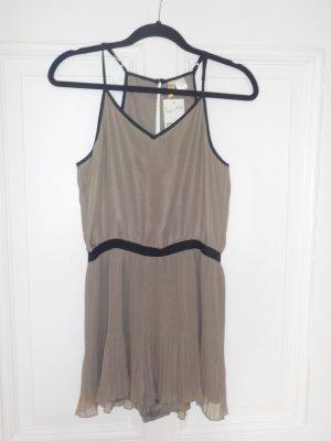 H&M leicht schimmerndes graubraunes Hosenkleid