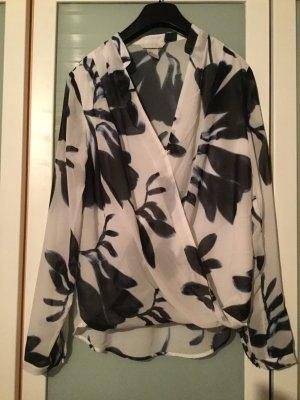 H&M - leichte Bluse in Wickeloptik