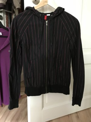 H&M leichte Jacke schwarz pink Größe S 36 Divided wie neu mit Kapuze