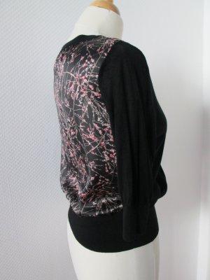 H&M leichte Strickjacke mit Rücken aus Satinstoff  und Seidenanteil Gr.M/S