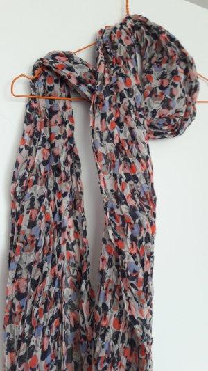 H&M leichter Schal Tupfenmuster pink blau beige