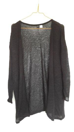 H&M leichter Strickcardigan schwarz offenes Modell Gr. XS