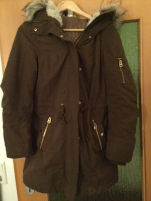 H&M Divided Parka multicolored fake fur
