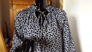 H&M, leichtes, weit fallendes Kleid graublau/schwarz, Gr.36, ungetragen