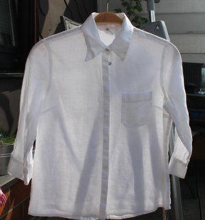 H&M Leinen-Bluse weiß Gr.36