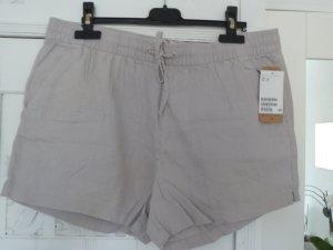 H&M Leinen Shorts  hellgrau Gr. 40 Neu mit Etikett