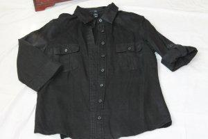 H&M Blouse en lin noir lin