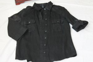 H&M Blouse en lin noir