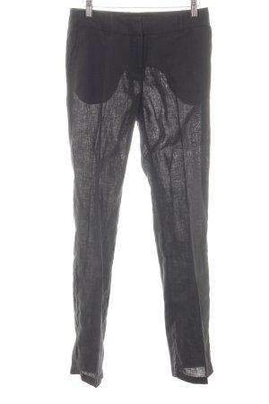 H&M Linnen broek zwart casual uitstraling