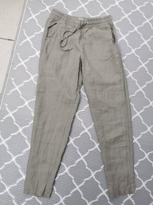 HM Linen Pants sage green