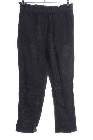 H&M Linen Pants black casual look