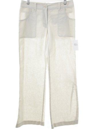 H&M Pantalón de lino blanco puro look Boho