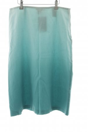 H&M Linen Skirt turquoise color gradient casual look