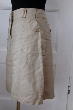 H&M Leinenrock mit Taschen in beige