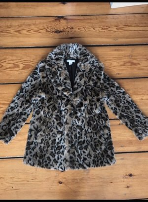 H&M Fake Fur Coat multicolored